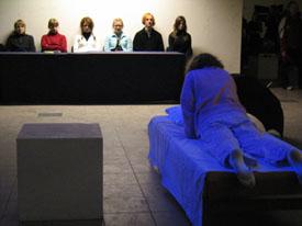 Sally Stuudio performance group. Ritual. Tartu Art Month. 2005