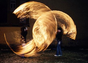 Sally Stuudio's fire group. Fire show. 2006